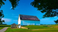 Farm;barn;Indiana;white;rural;Midwest