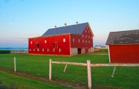 Farm;barn;Indiana;Midwest;Red;Green;rural
