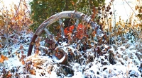 Wagon-Wheel;Snow;round;Indiana;midwest;Wheel