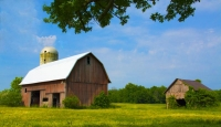 Barn;Barns;Farm;Farming;Indaina;Red;green;blue;rural;Midwest;Adaams-County;weathered-wood