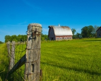 Barn;Barns;Farm;Farming;Indaina;Red;green;blue;rural;Midwest;Howard-County;weathered-wood;Fence