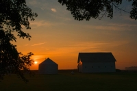 Sunrise;Orange;Gold;Barn;Barns;Farm;Farms;Indiana;Midwest;Rural;SR;FM;In