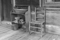 Wash-Basin;Howard-County;rural;Old;antique;Midwest;Cabin;Black-and-White