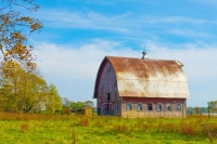 Barn;farm;red;green;rural;Midwest;Indiana;Howard-County