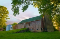 Barn;barns;farm;red;green;Indiana;MIdwest;fulton-county;rural