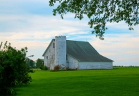 Barn;barns;farm;red;green;Indiana;Midwest;Tipton-County;rural;white;rural