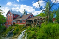 Mill;Clifton-Mill;Ohio;red;waterfall;grist-mill;stream;River;verticalMidwest