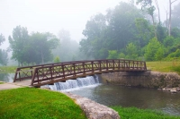 Bridge;Kokomo;creek;waterfall;nature;Howard-County;Indiana;Midwest;green;moving;water;river;stream;f