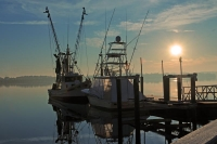 Boats;Blue;sea;Senic;Shrimp-Boats;South-Carolina;Southeast;Nautical;Costal;Sunrise;Landscape;ocean;Y