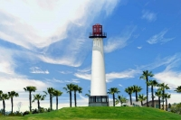 Lighthouse;white;green;Long-Beach-California;West;Nautical