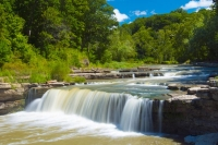 Waterfall;Creek;Stream;River;Moving-water;Indiana;Midwest;Green;Water;Nature