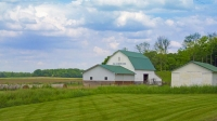 Barn;Barns;Farm;Farming;Indiana;Miami-County;Midwest;Green;White;Rural