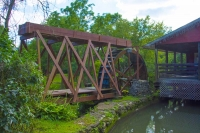 Mill;Clifton-Mill;Ohio;red;waterwheel;grist-mill;stream;River;Ohio;Midwest