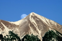 Full-Moon-La-Sal-Mountains;Moon-over-La-Sal-Mountains