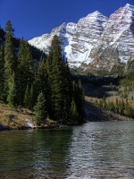green;blue;vertical;landscape;mountain;water;lake;maroon-bells;aspen;co;colorado;sky