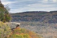 nature;hawksbill-crag;ozarks;ar;arkansas;fall;foliage;trees;color;autumn;horizontal;landscape