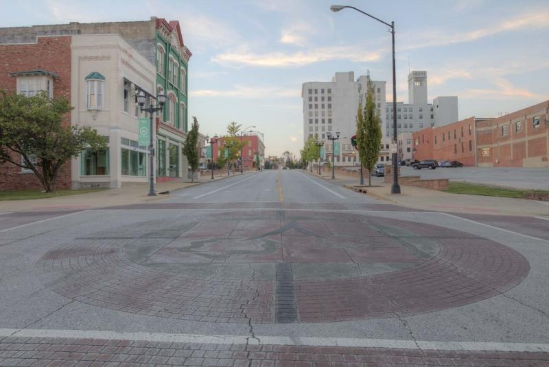 springfield;mo;missouri;city;town center;boonville;morning sunrise street