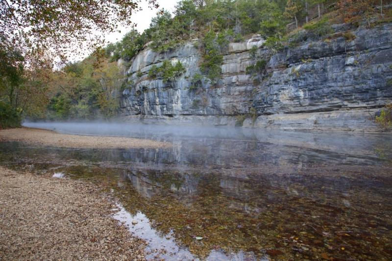 water;spring;buffalo river;river;reflection;trees;green;jasper;ar;arkansas;fall;autumn;colors;horizontal