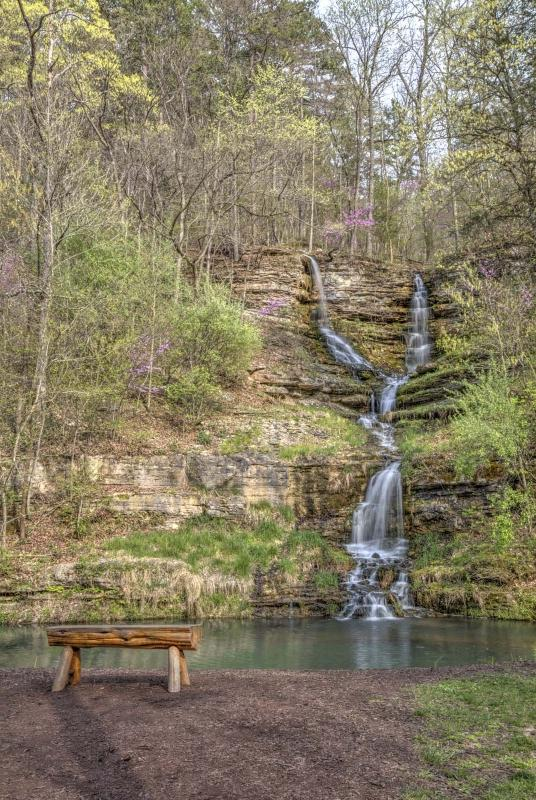 dogwood canyon;mo;missouri;water;nature;spring;creek;lampe;waterfall;water fall;thunder falls