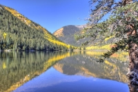 cottonwood;lake;colorado;co;water;blue;trees;fall;autumn