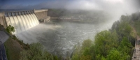 dam;table-rock-lake;table-rock-dam;branson;mo;missouri;lake;lakes;water;panorama;horizontal;fog;coul