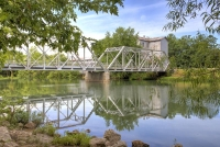 bridge;ozark;springfield;mo;missouri;horizontal;blue;water;finley-river