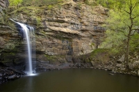 mountains;ozarks;petit-jean;state-park;ar;arkansas;forest;trees;horizontal;green;waterfall;water