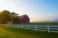 Barn;barns;farm;farms;red;Indidna;green;Midwest;rural;Wabash-County