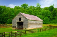 Barn;farm;family-farm;weathered-wood;green;gray;rural;Indiana;Midwest;Miami-County