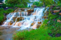 Waterfall;green;Hamilton-County;Indiana;Midwest;Reeds;stream;movimg-water