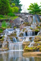 Waterfall;Beauty;Fishers;Indiana;Midwest;stream;spring;moss;green;flowing;Peaceful;Hamilton-County;r