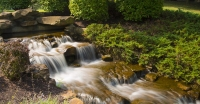 Waterfall;Waterfalls;Moving-Water;Stream;Green;Indiana;MIdwest;Brook