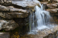 Waterfall;moving-water;gray;Indiana;Midwest;brook;stream;rocks;Hamilton-County