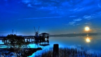 Sunrise;Shrimp-Boats;Sea;South-Carolina;blue;ocean;Sea;Costal;Dock