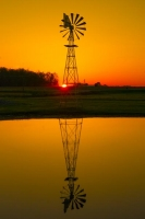 Sunrise;Windmill;Howard-County;Midwest;SR;Indiana;Farm;Gold;reflection;vertical