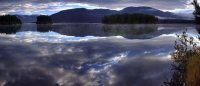 blue;gray;horizontal;panorama;water;sky;clouds;mountains;landscape;lake;pano;panoramic